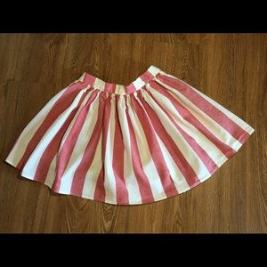 American apparel size xs red & white mini skirt